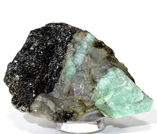 150ct 48mm Natural Green Emerald Rough in Matrix Crystal Gemstone Mineral Rock Cab for Cabbing/Carving - Brazil