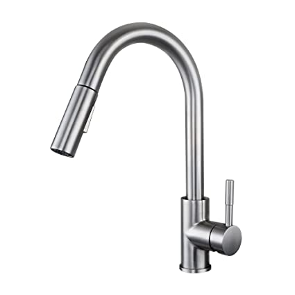 Superbe KES Pull Down Kitchen Faucet Stainless Steel Modern Single Large Tall  Commercial Pullout Bar Sink Faucet