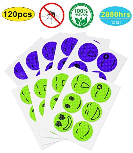 120 Pcs Mosquito Repellent Patches, Non-Toxic, Safe for Kids and Adults (Best Non Toxic Mosquito Repellent)
