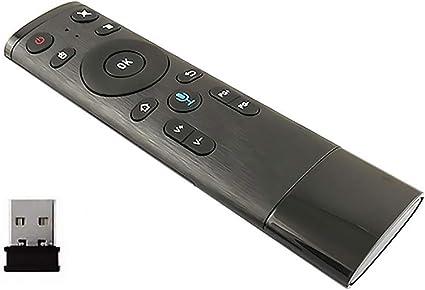 seasaleshop Q5 Bluetooth/2.4 G Mando a Distancia Teclado inalámbrico con Infrarrojos de fernlern para Smart TV, Android TV Box, Mini PC