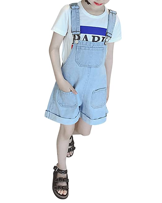 DianShaoA Peto Vaquero Corto Niña Ajustable Pantalones ...