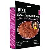 BiYa Hair Elements Thermatt Clip In Half 3/4 Wig Hair Extensions Natrual Wave, Copper Red Number R350 24-inch by BiYa Hair Elements