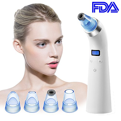 Cheap Blackhead Vacuum, Beyond [2018 Newest] Electric Blackhead Remover Pore Cleaner Acne Comedo Suction Extractor Tool Microdermabrasion Machine with 4 Probes and LCD Display