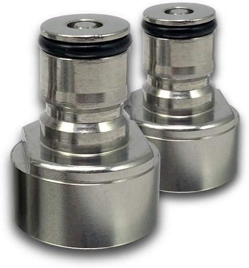 "COLDBREAK Ball Lock Posts Keg Coupler Adapter, Gas, 7/8""-14 (5/8"" BSP), Stainless Steel"