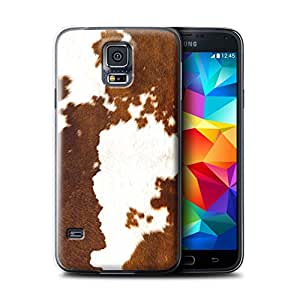STUFF4 Phone Case / Cover for Samsung Galaxy S5 Mini / Cow/Brown Design / Animal Fur Effect/Pattern Collection