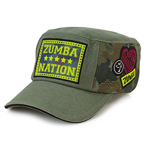 Zumba Fitness Damen AC Other Patched Up Military Hat, Army Green, One Size, A0A00554