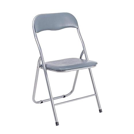 ARREDinITALY Juego de 6 sillas Plegables Gris: Amazon.es: Hogar