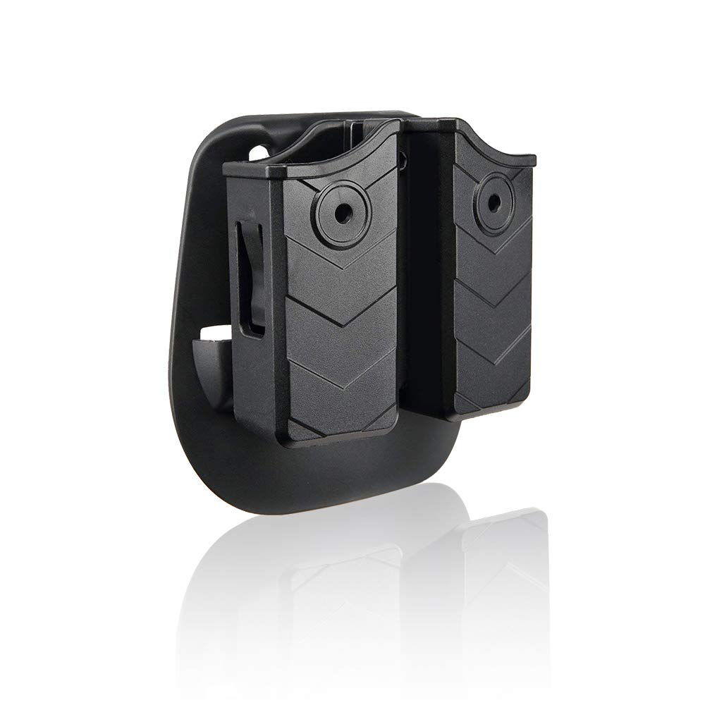 efluky Pistol Mag Pouch Double Universal IPSC Tactical Magazine Pouch for Sig Sauer P226 9mm/.40/Glock 17 19/CZ P-09/H&K USP FS/Beretta/Walther P99