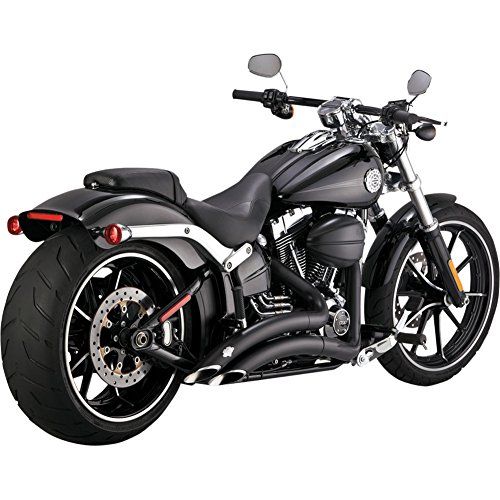 (07-17 HARLEY FXDB3: Vance & Hines Big Radius 2-Into-2 Exhaust (Black))