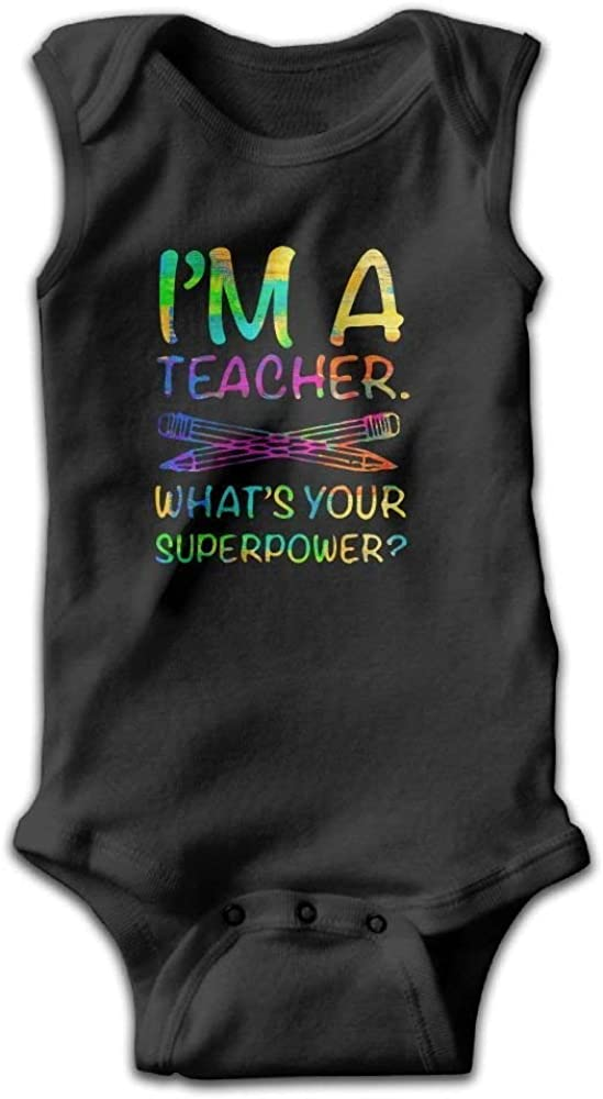Baby Kids I Am A Teacher Onesies Romper as picture12 Months