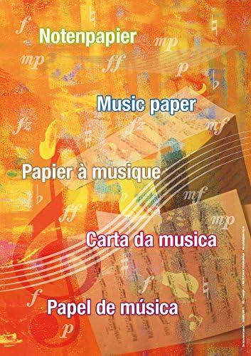 Notenpapier Notenblätter Notensystem (1)