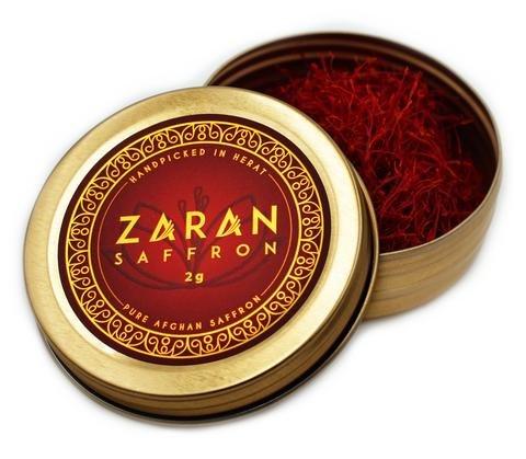 Zaran Saffron Afghan Saffron, Handpicked in Herat. Premium grade A (2 gram)