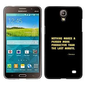 Caucho caso de Shell duro de la cubierta de accesorios de protección BY RAYDREAMMM - Samsung Galaxy Mega 2 - Motivación Productivo Cita divertida
