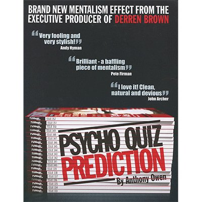 Psycho Grill Prediction by Anthony Owen