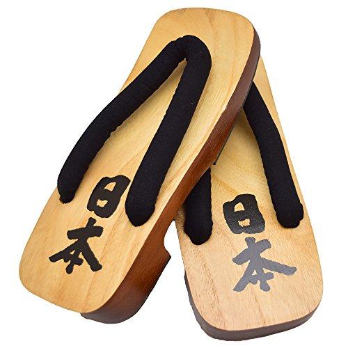 Japon Samurai Marché Japonais Direct Geta Sandales Japon Kanji Taille; 3l (30cm)