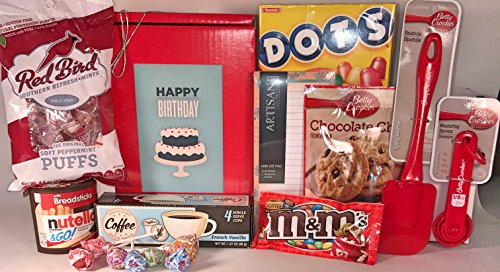 Women's Birthday Gift Box Basket IV - Love to Bake - Love to Cook - Gift Box for Woman Misses Mom Daughter Grandma Aunt Sister - Send Happy Birthday Wishes With These Gifts and Treats Today! (Send A Gift Basket Today)