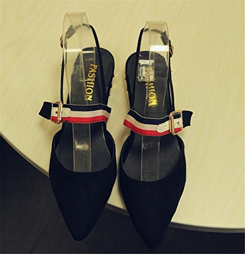 Black Slippers LYLIFE Women's Stud Mule Alexis XwX7Tq0F