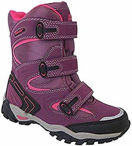 WINTER STIEFEL KLETTVERSCHLUSS Gr 36-41 -WARMFUTTER -45018-purple/fuxia