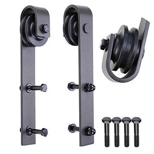 Penson & Co Sliding Barn Door Hardware Antique Style Roller - Black (2 Pack) - Barn Style Doors
