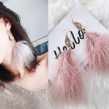 LLDEH Pendientes románticos Elegantes Pendientes Largos de Cristal Pendientes de Fiesta de Bodas para niñas Regalo para Mujer