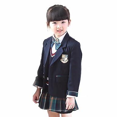 add7911b39d93 Amazon.co.jp: AMIGOYO 子供服 子供スーツ 卒業式 学生服 制服 小学生 男の子 女の子 キッズ 5点セット 韓国風  フォーマルスーツ 春秋  服&ファッション小物