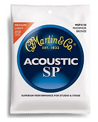 Martin MSP4150 SP Phosphor Bronze Acoustic Guitar Strings