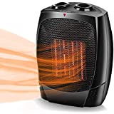 Electric Space Heater - Air Choice 1500W Portable Electric Heater, Up to 200 sqft,Tip-Over & Overheat Shut-off,3 Modes Adjustable, Personal Mini Ceramic Room Heater with Adjustable Thermostat