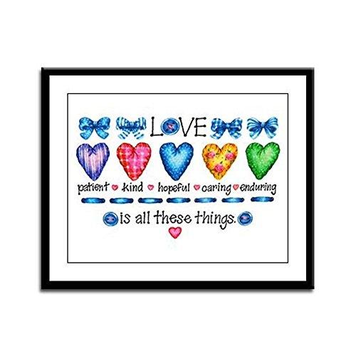 Day Framed Panel Print - Framed Panel Print Love Patient Kind Hopeful Caring