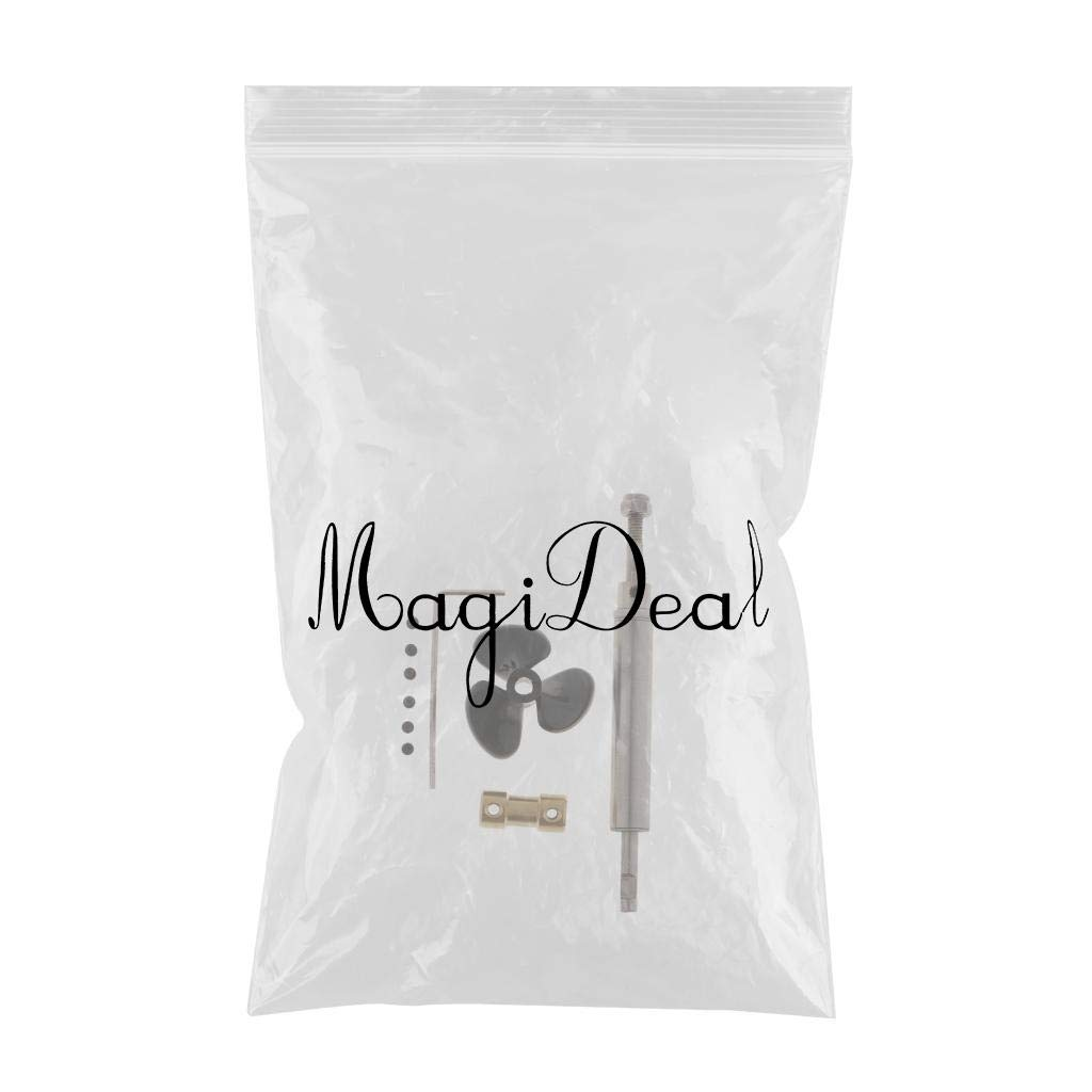 3-2mm MagiDeal Stainless Steel Shaft System with 3-Leaf Propeller for RC Boat Ship Models