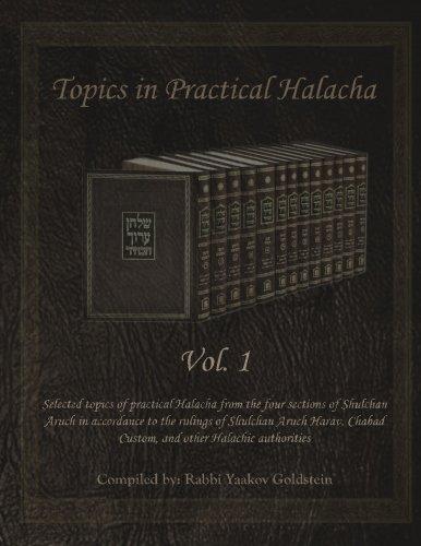 Topics In Practical Halacha Vol. 1