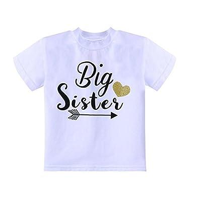c97b4a382b6b KONIGHT Newborn Infant Baby Girls Boys Outfits Big Sister Letters Print  Romper Jumpsuit Clothes T-