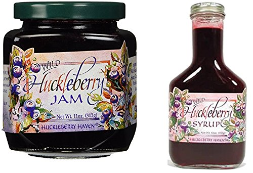 Huckleberry Jam and Pancake Syrup from Montana Gift Bundle. Includes 1 Huckleberry Jam, 1 Huckleberry Syrup and a Spreader.