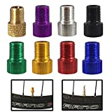 Set of 4 Bicycle Presta Valve Adapters for Road, Mountain, Track, & Fixie Models ( 8 Color Options )