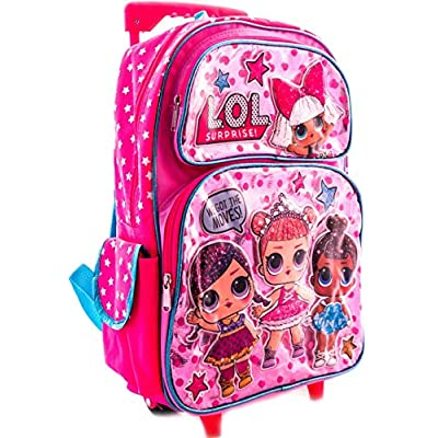 L.O.L Surprise! Large School Rolling Backpack 16