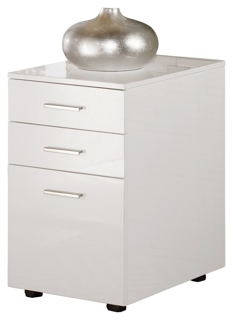 Signature Design by Ashley H410-12 Baraga Collection File Cabinet, White