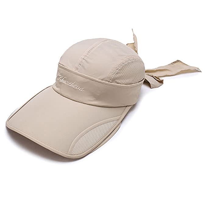 8d493282 Flyou Sun Hats Unisex Summer Hat Outdoor UV Protection Wide Large Brim Cap  Beach Visor Empty