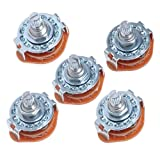 5 pcs 4 Way Guitar Amplifier Rotary Switch For Guitar 3-Pole 4-Position,15pins