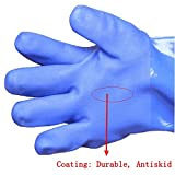 Working Long Durable PVC Glove with Cotton Lining