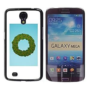 Be Good Phone Accessory // Dura Cáscara cubierta Protectora Caso Carcasa Funda de Protección para Samsung Galaxy Mega 6.3 I9200 SGH-i527 // Wreath Christmas Holidays Winter Santa