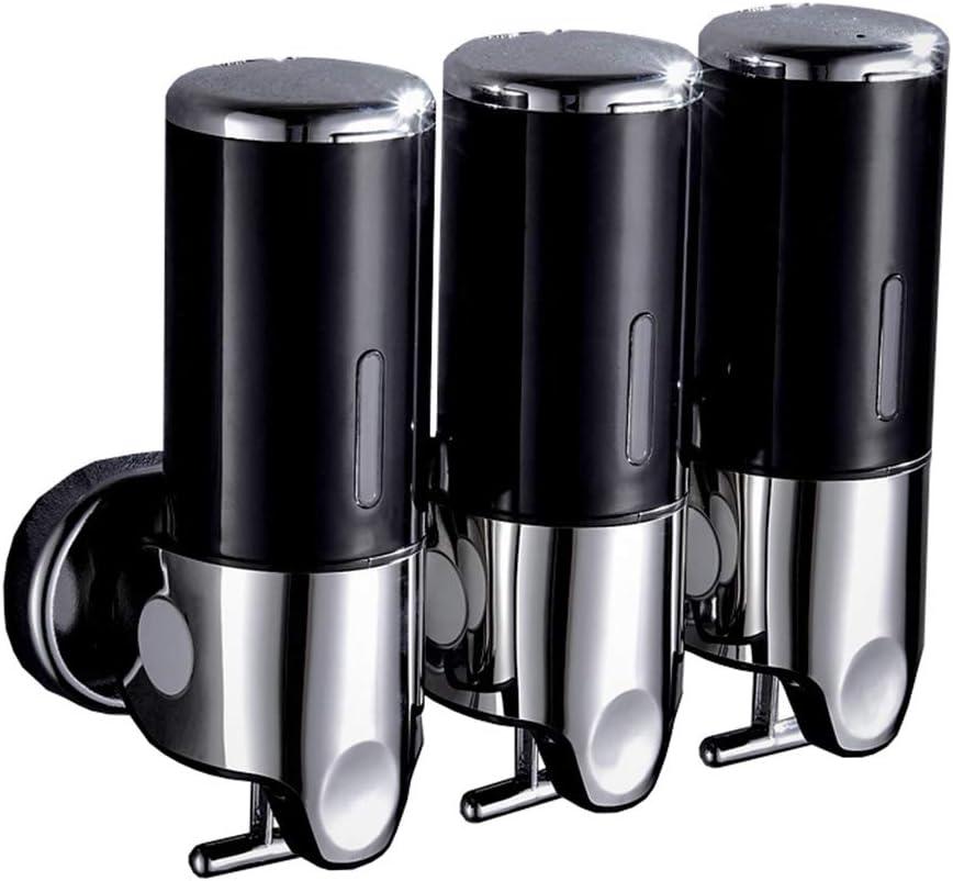 Peut accueillir 3 500 ML Soap dispenser Distributeur de Savon sans poin/çon pour h/ôtel Salle de Bain Mural assainisseur pour Les Mains Bouteille shampooing pour Salle de Bain Gel Douche