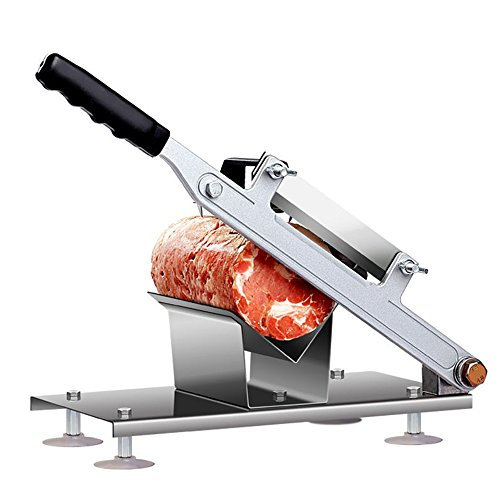 Meat Slicer, TOPQSC Lamb Slicing Machine Manual Meat Cutting Machine Commercial Household Mutton Fat Beef Meat Frozen Meat Planing Machine