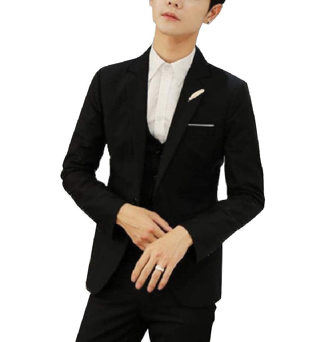 Comaba Mens Original Fit Premium Plus-Size Party Blazer Vest Pants Set