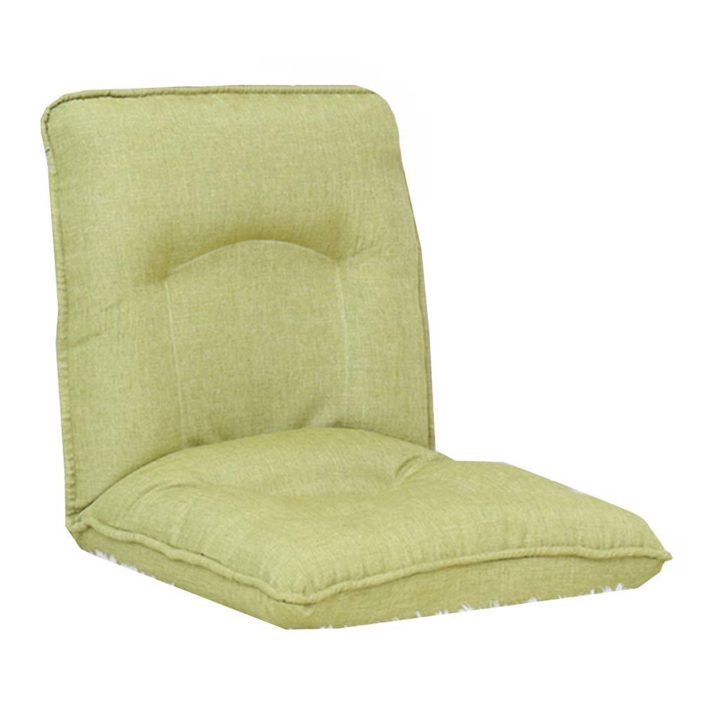 Sitzsäcke Faltender fauler Sofa-6-Position entspannen Sich Boden-Spielstuhl, justierbare Boden-Kissen-Couch-Betten für Uhr Fernsehapparat, Mittag Rest, Nap (Farbe   Light Grün) Light Grün