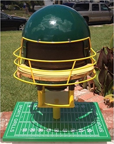 Sports Grills Touch Down 3000 Portable Charcoal BBQ44; Green & Yellow by Sports Grills