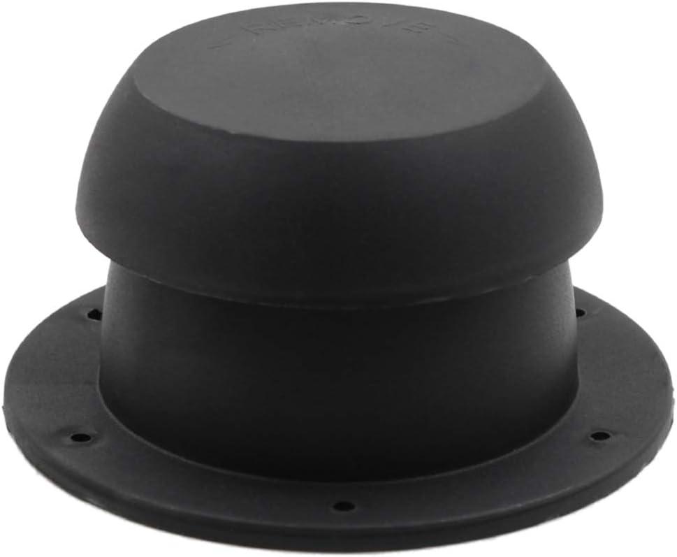r/ésistance /à la chaleur POHOVE Capuchon de ventilation mont/é sur le dessus pour camping-car anti-corrosion anti-pluie accessoires de station de wagon noir ABS en forme de t/ête de champignon