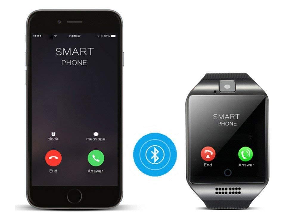 "Kkcite, smartwatch bluetooth con display 1,54"", per sport, caccia, nuoto, orologio adatto a cellulari Android, iPhone, Samsung Galaxy Note, Nexcus, HTC ecc"