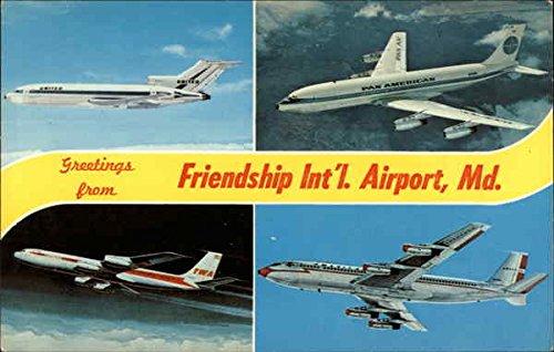 Views of Aeroplanes, Friendship International Airport Baltimore, Maryland Original Vintage - Baltimore Airport Maryland In