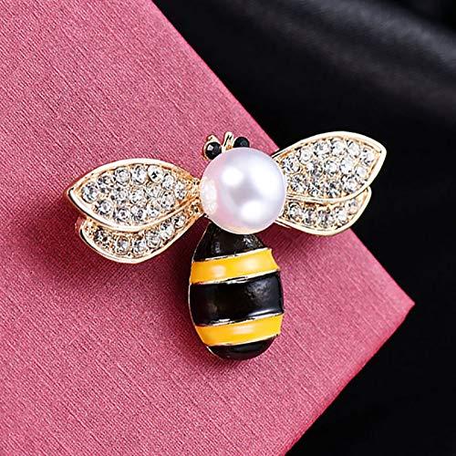 Gespout Moda Abeja Broche Rhinestone Animal Broche Accesorios de Vestir Damas Decoraciones Regalo de Cumplea/ños