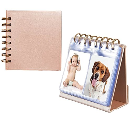 Photo Album For HP Sprocket and Polaroid Zip Instant Printer, 64-Pocket Photo Album fit for Polaroid 2x3 inch Premium ZINK Photo Paper, Portable 3-inch Desk Calendar Picture Holder
