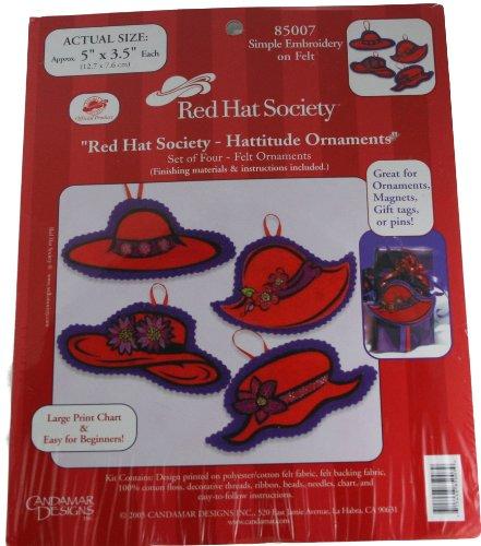 Candamar Designs Red Hat Society Hattitude Ornaments (Red Hat Society Ornament)